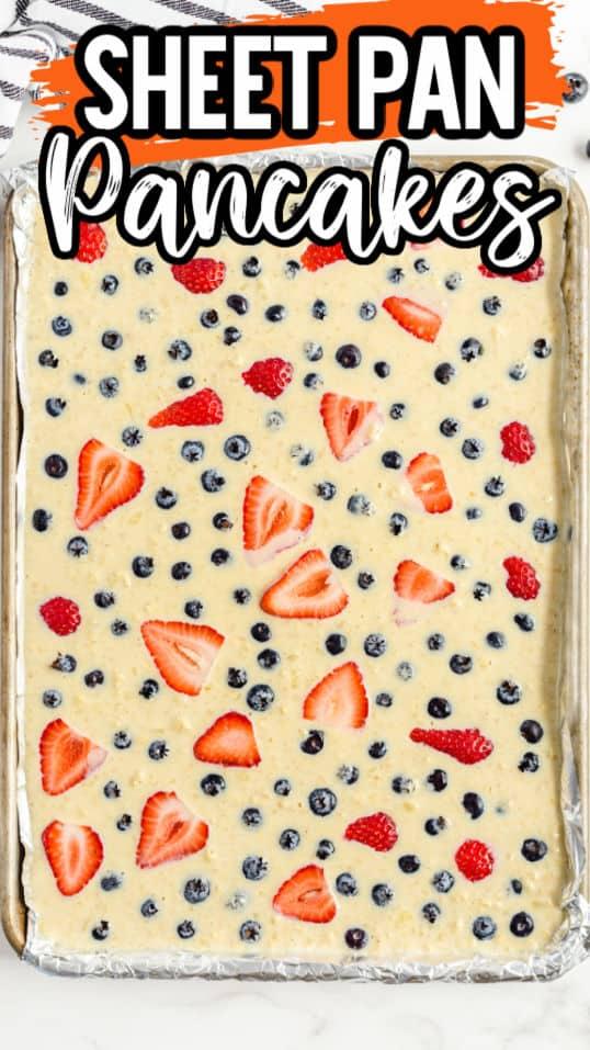 Sheet Pan Pancakes Pinterest image