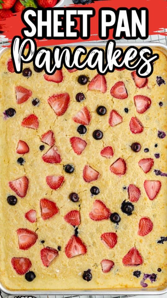 Sheet Pan Pancakes Hero Pinterest
