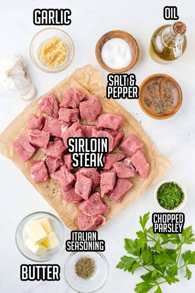 Ingredients for steak bites