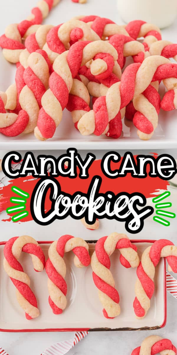 Candy Cane Cookies Pinterest Image
