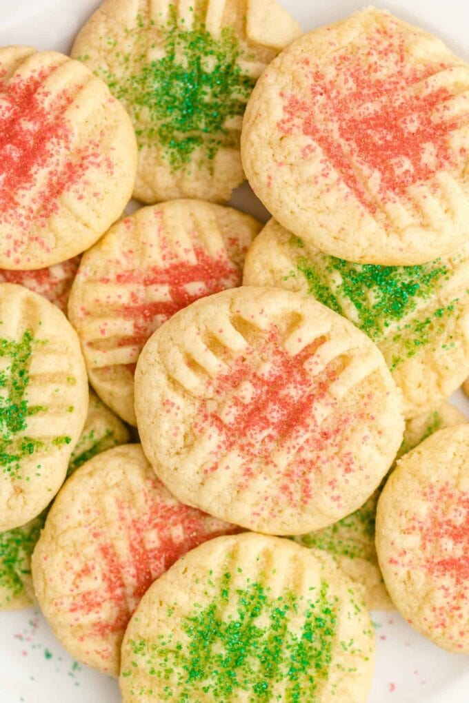 close up of Christmas cookies
