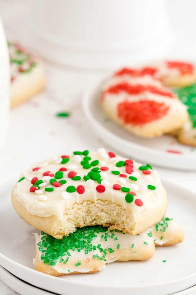 Christmas Sugar Cookies with bite