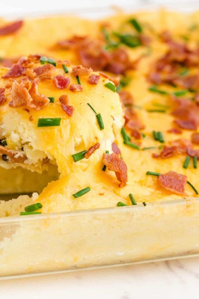 Mashed Potato Casserole scoop
