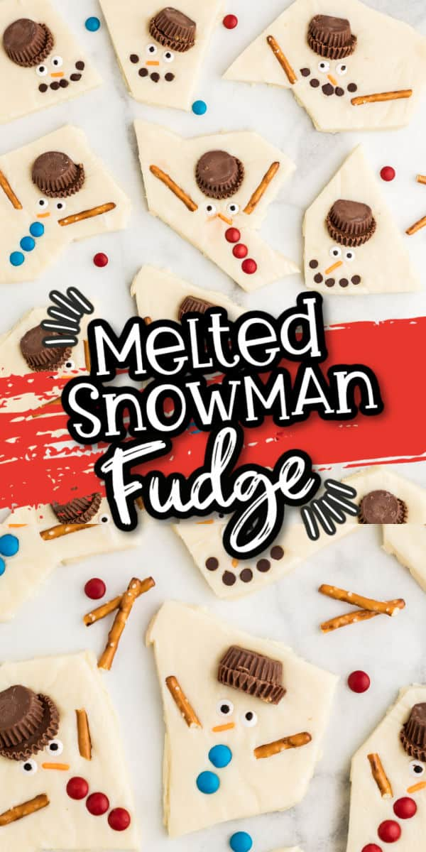 Melted Snowman Fudge Pinterest Image