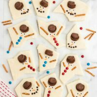 Melted Snowman Fudge square