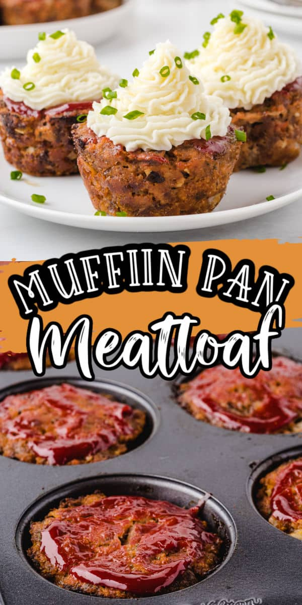 Muffin Pan Meatloaf Pinterest Image