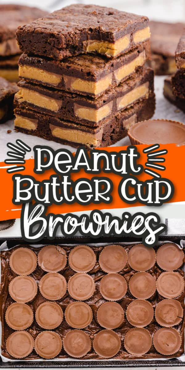 Peanut Butter Cup Brownies Pinterest Image