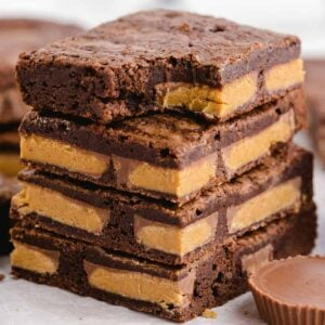 Peanut Butter Cup Brownies featured square