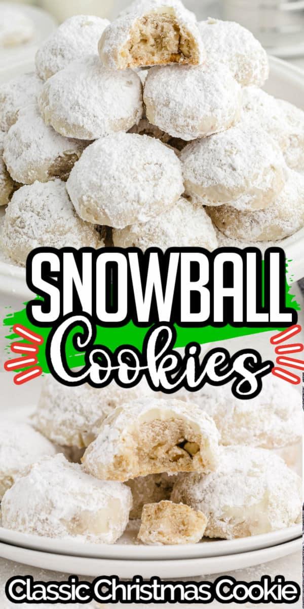 Snowball Cookies Pinterest Image copy