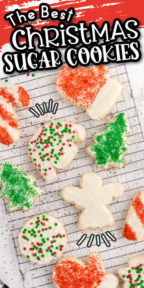 Christmas Sugar cookies Pinterest Image