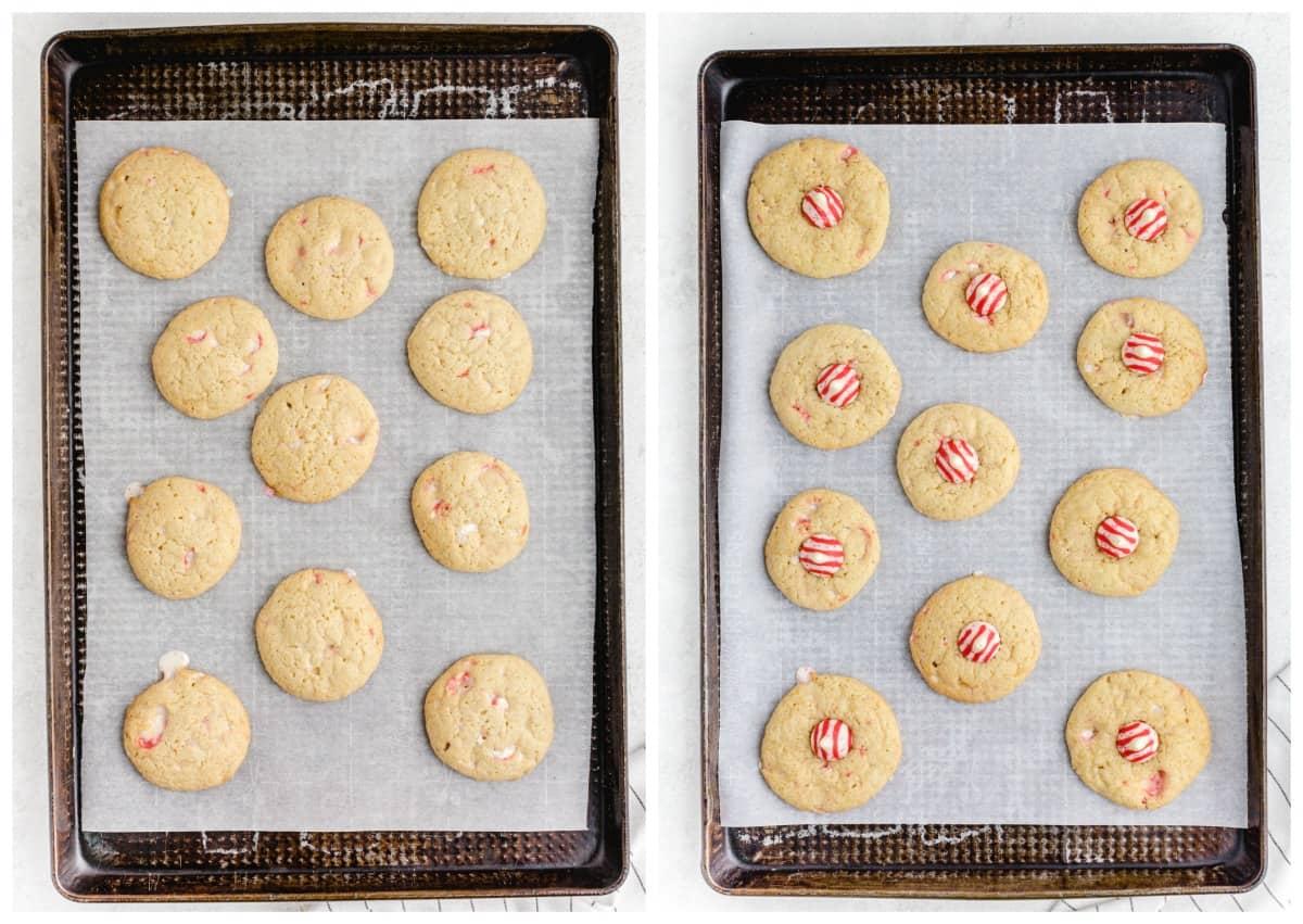 cookies baked on pan