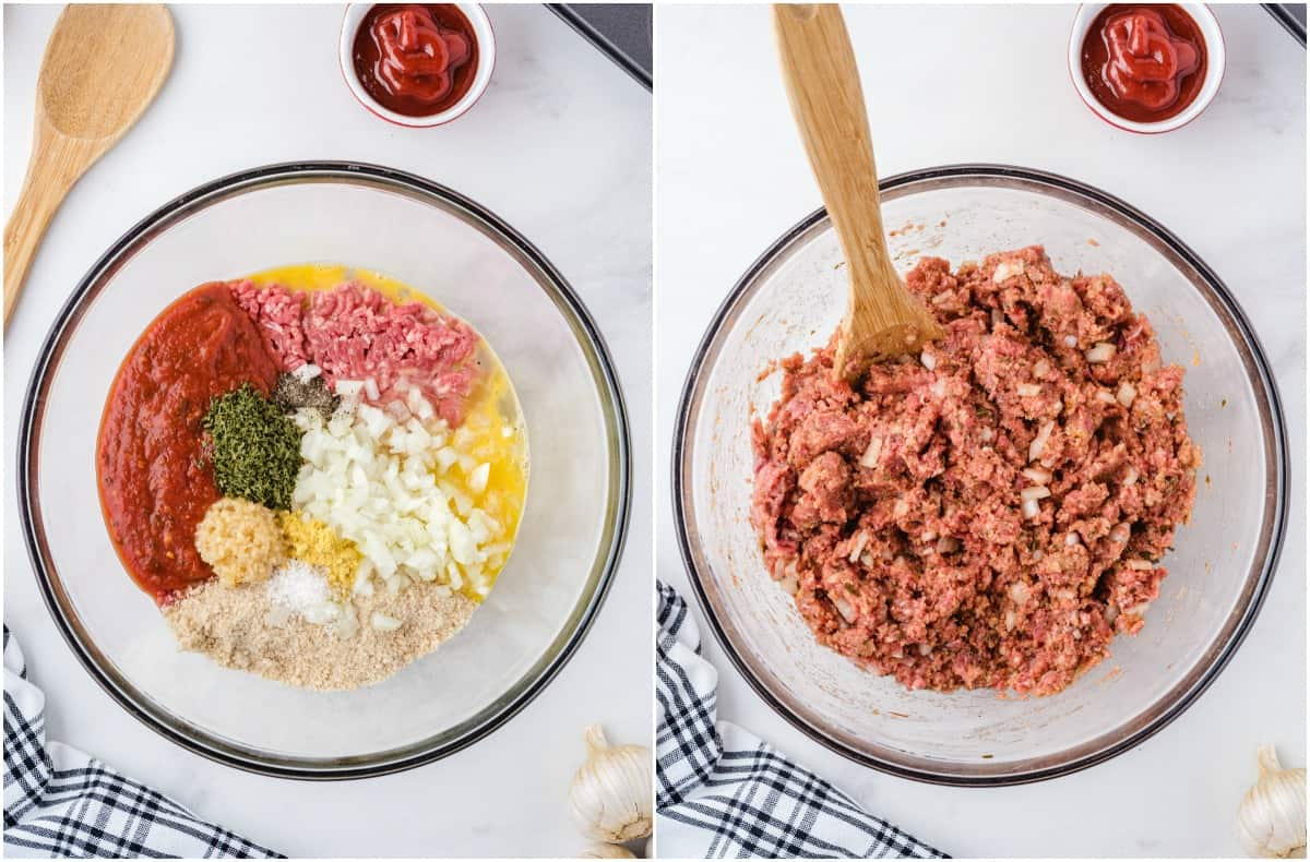 mix meatloaf ingredients