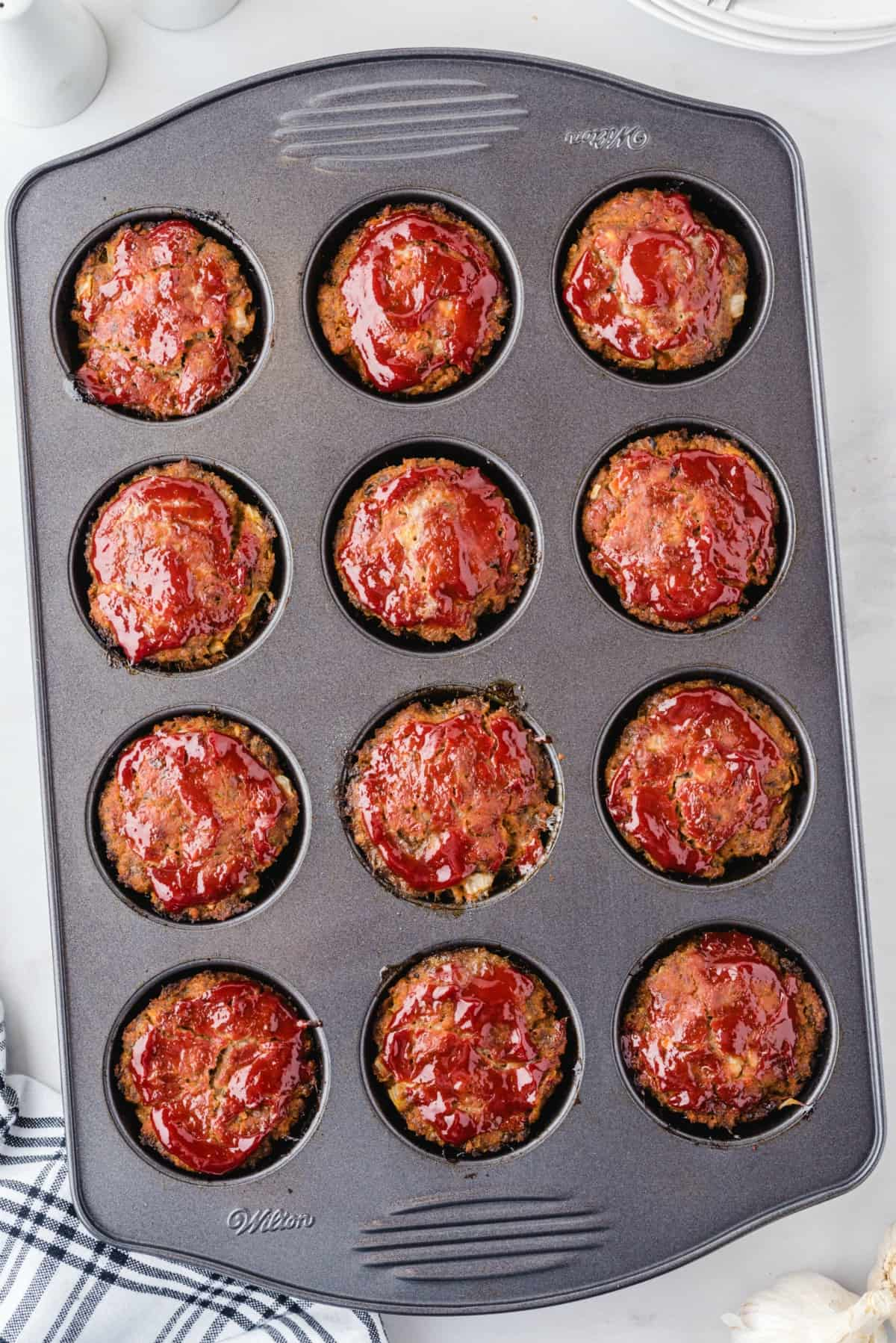 muffin pan meatloaf baked