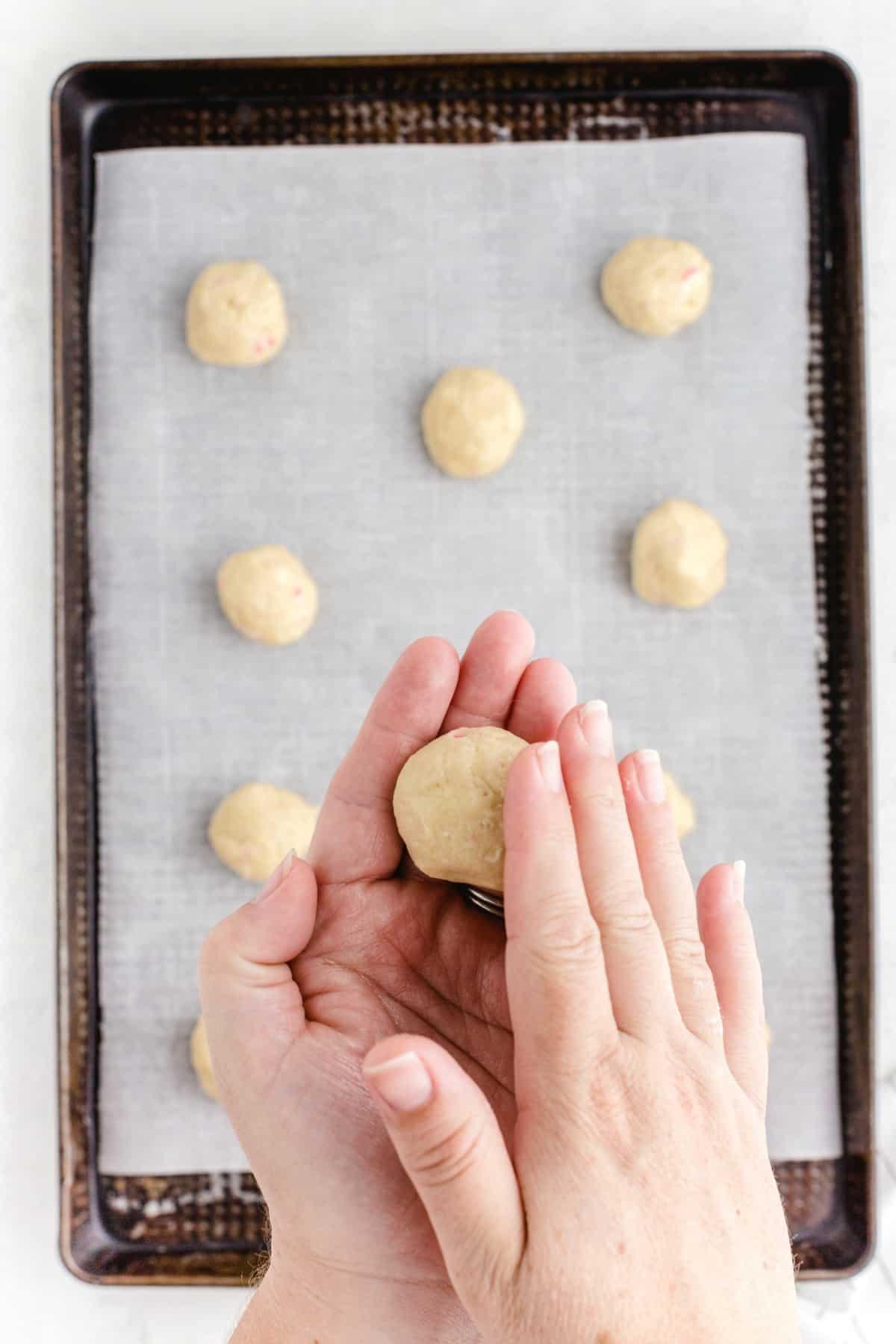 roll dough into balls