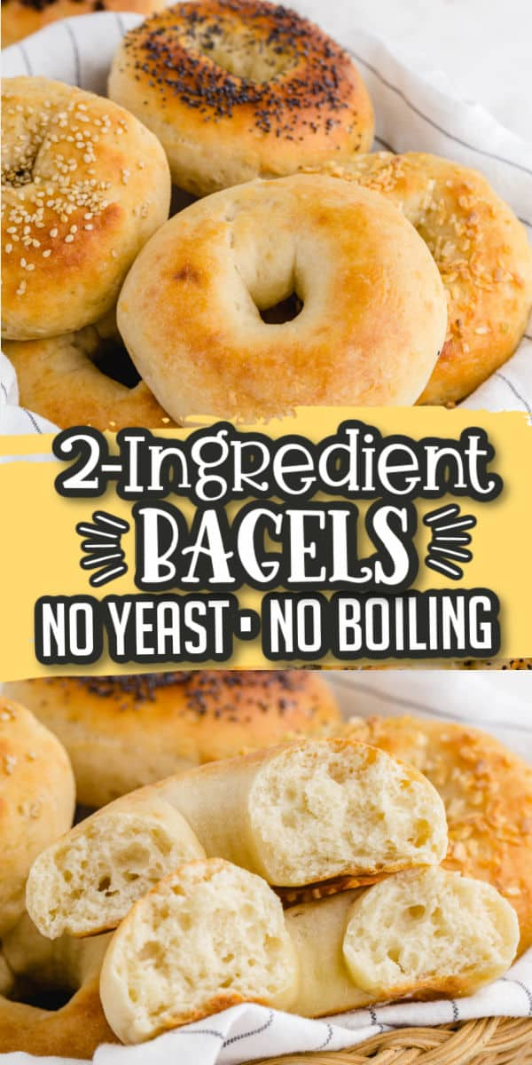 2 Ingredient Bagel - Pinterest Image