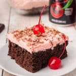 Cherry Dr Pepper Cake square