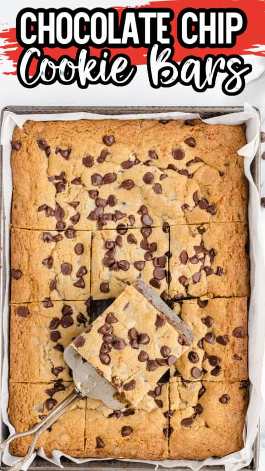 Chocolate Chip Cookie Bars Pinterest Image 2 copy