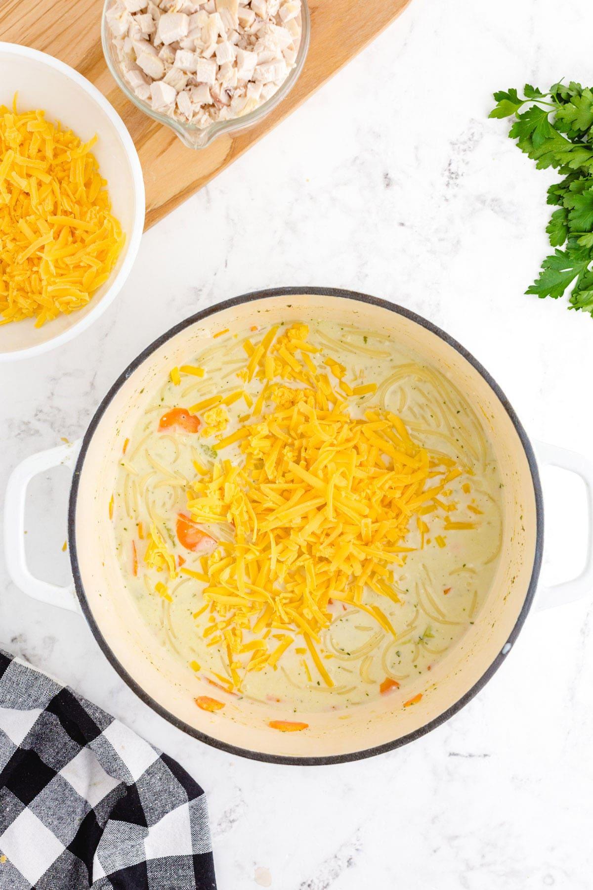 add cheddar cheese