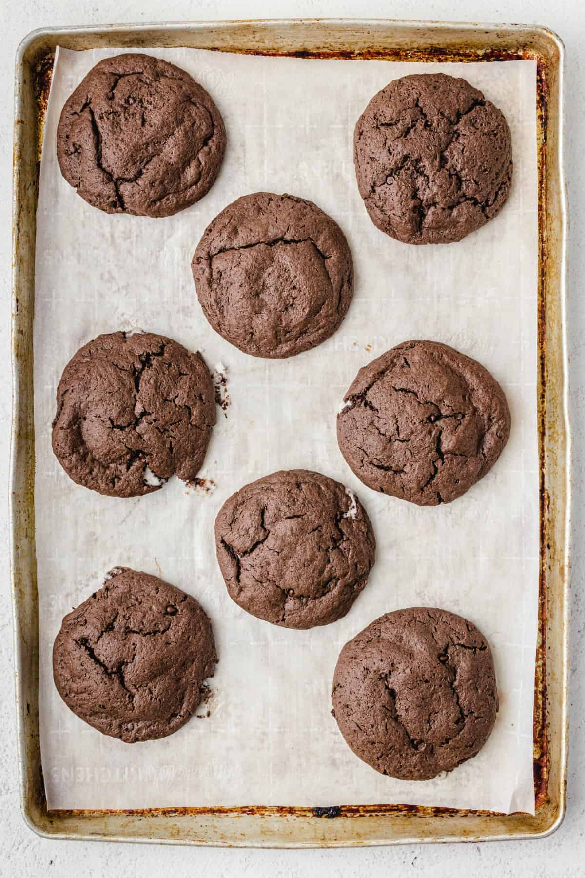 Peppermint Patty Cookies baked