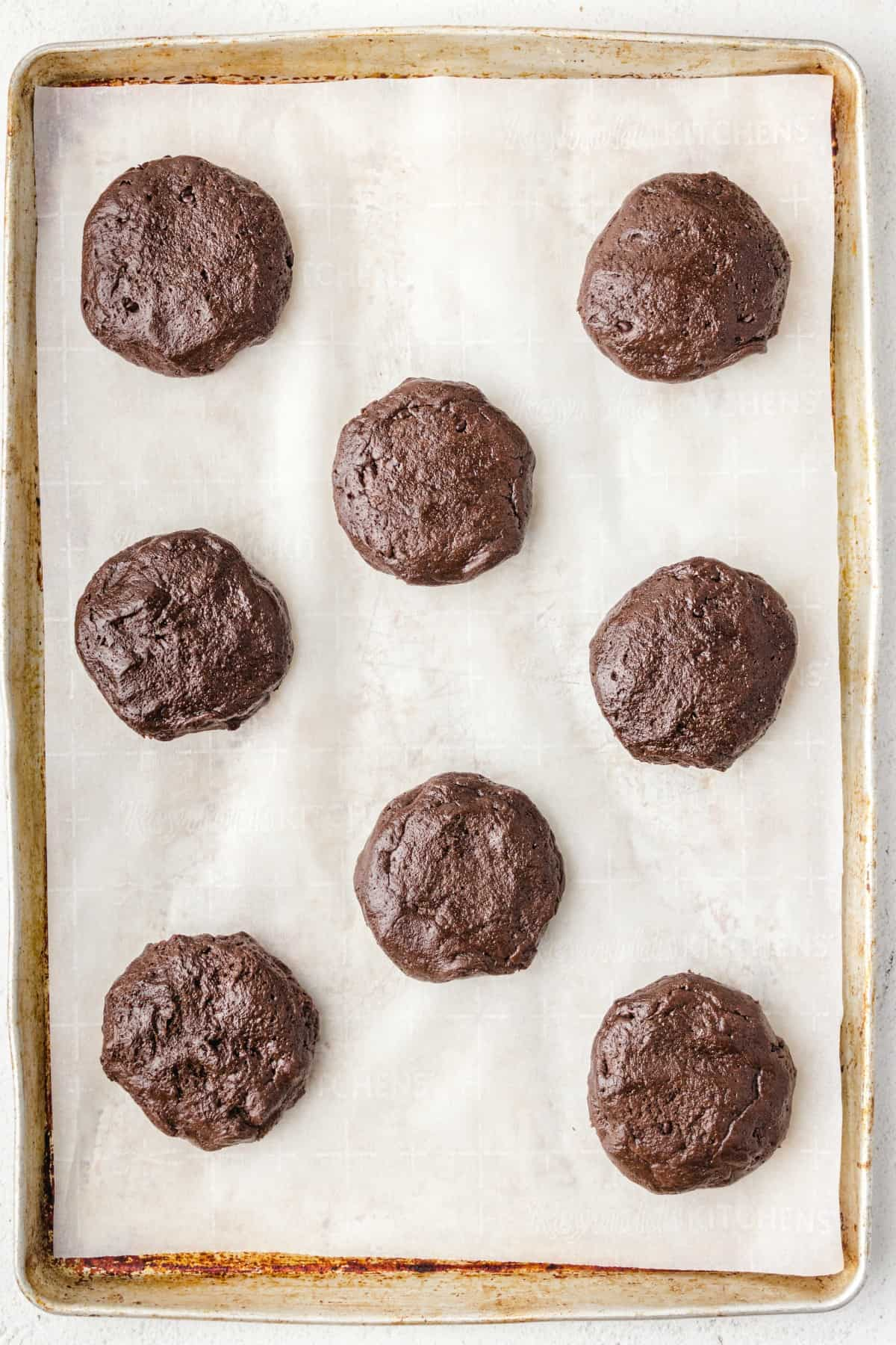 Peppermint Patty Cookies being baked