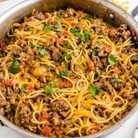 Taco Spaghetti in one pot