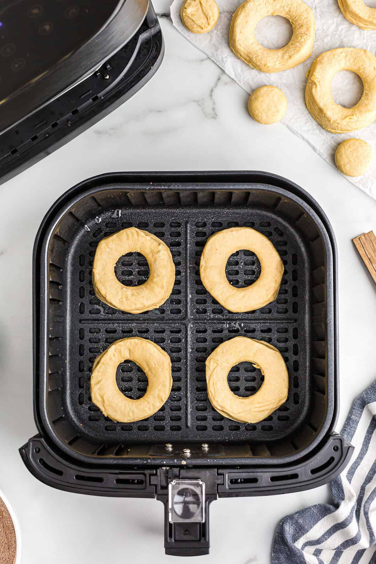place biscuits in air fryer basket
