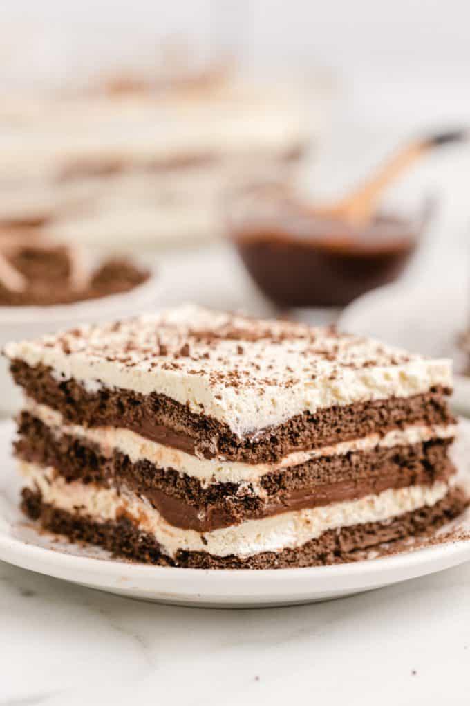 icebox cake on a plate