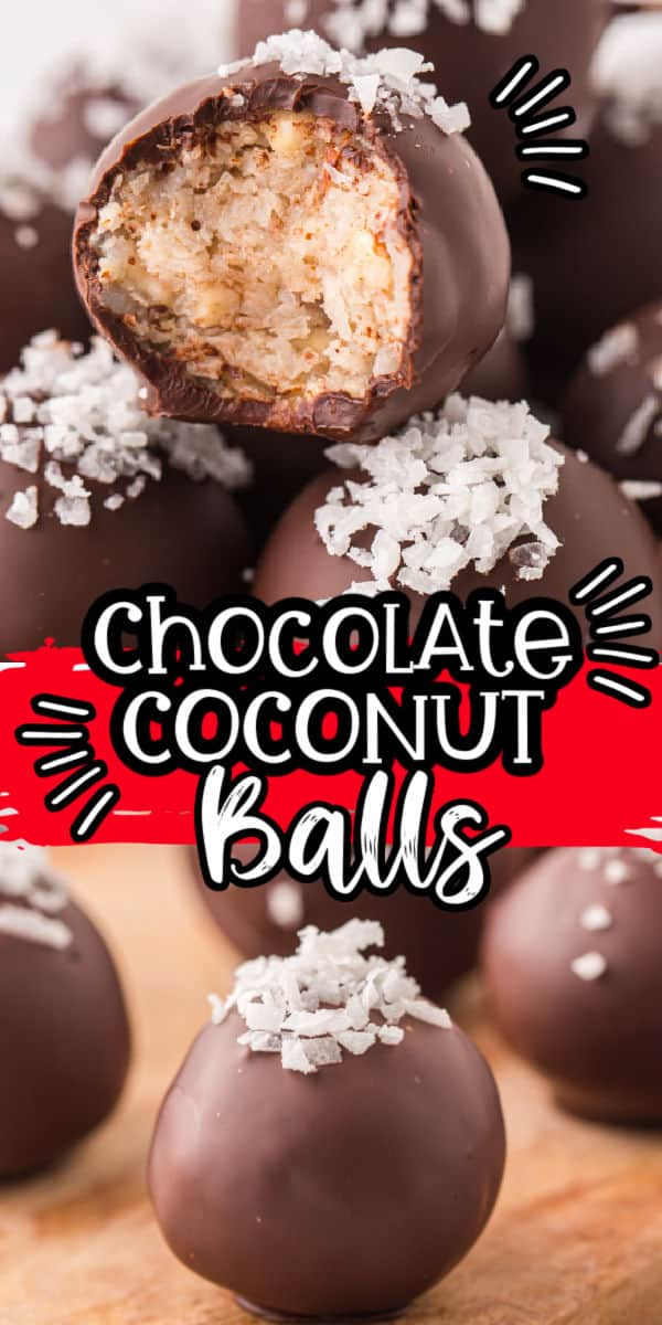 Pinterest 600 x 1200 - Chocolate coconut balls