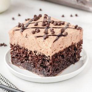 Chocolate Poke Cake Featured image