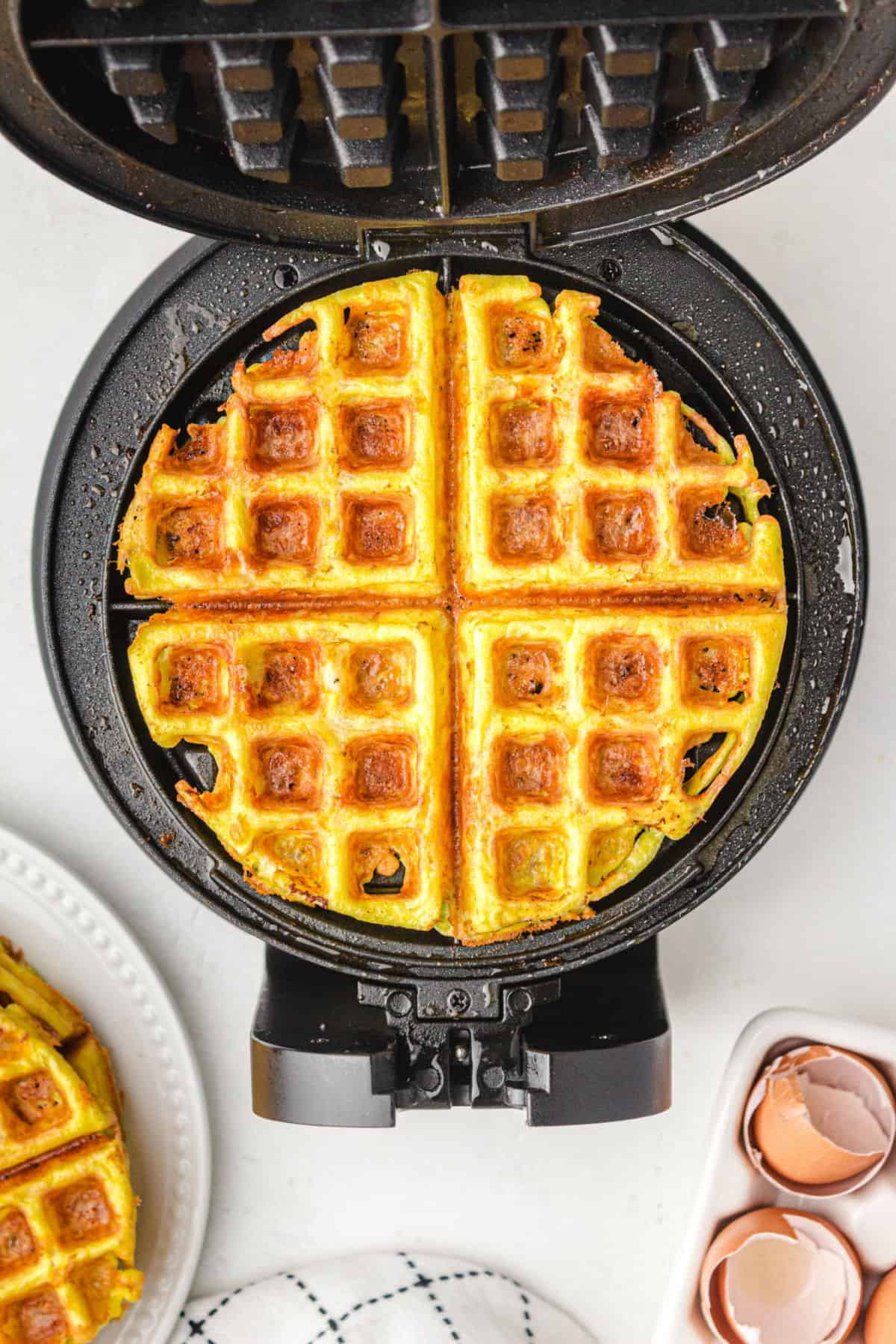 chaffle in waffle maker