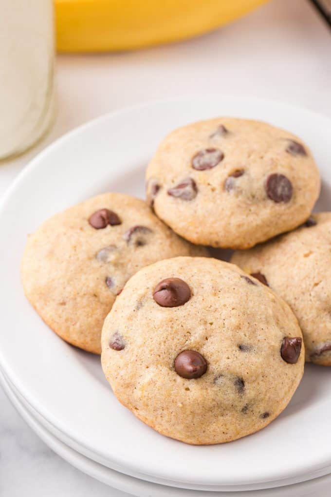 Banana Bread Cookies on a plate