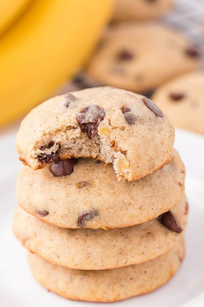 Banana Bread Cookies with a bite