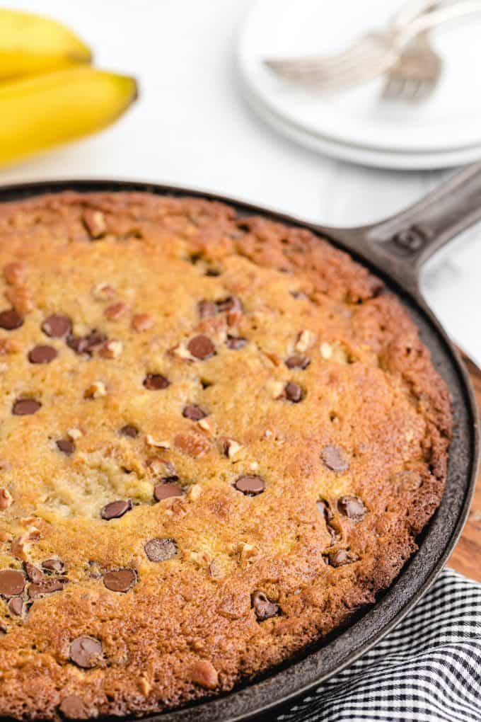 cast iron banana bread