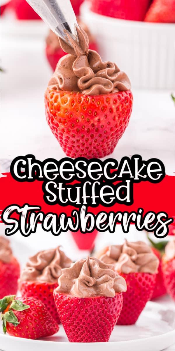Cheesecake Stuffed Strawberries Pinterest