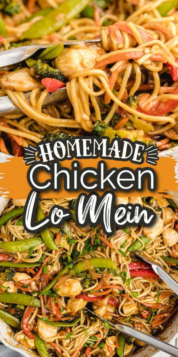 Chicken Lo Mein Pinterest Image
