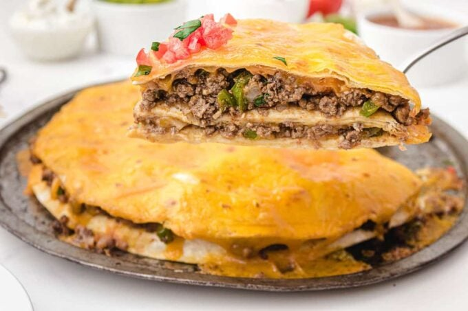 slice of taco pie