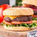 air fryer cheeseburger featured image
