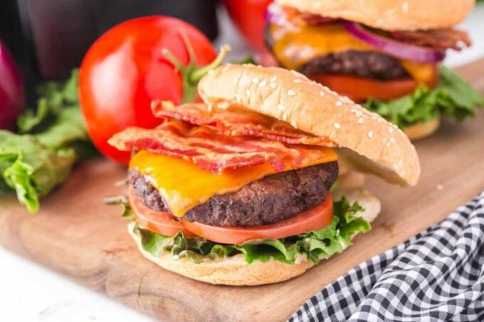 assemble burgers with favourite toppings