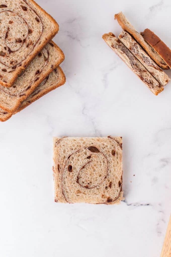 cinnamon swirl bread with crust off