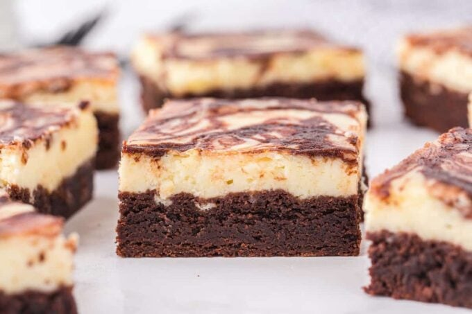 square cheesecake brownies