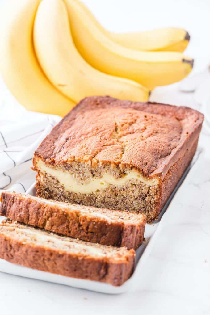 cream cheese banana bread featured image