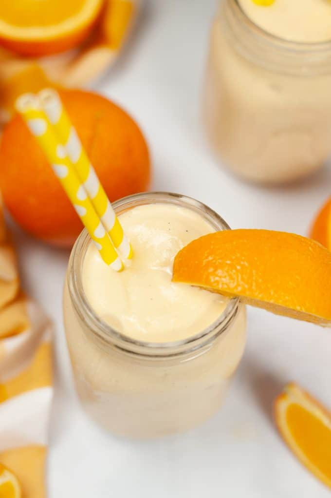 orange creamcicle milkshake