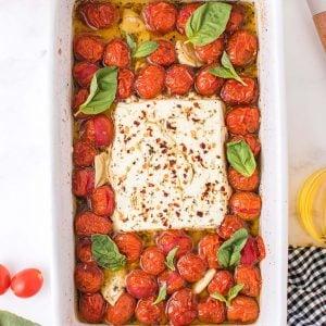 baked feta pasta featured image