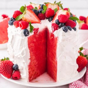 fresh watermelon cake featured image