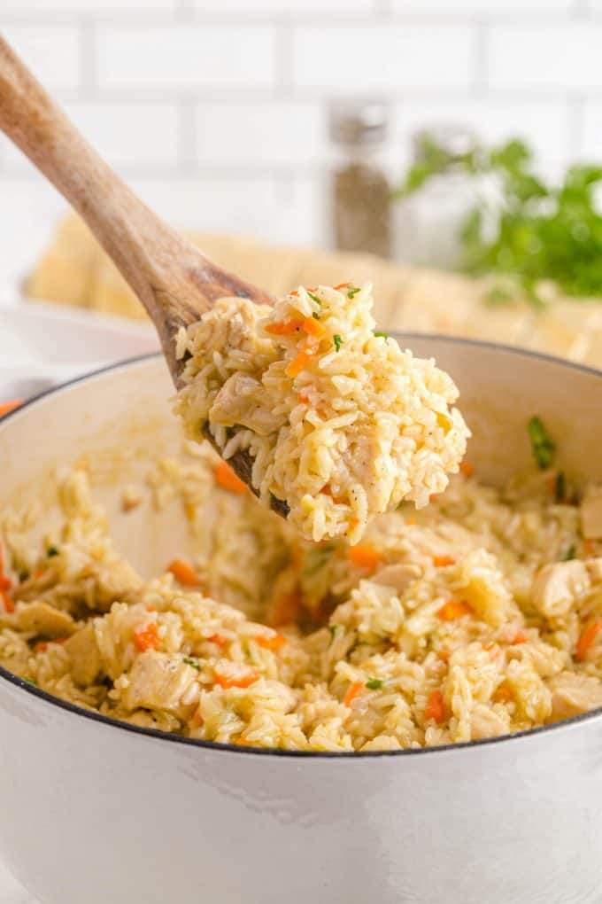 one pot chicken and rice hero image