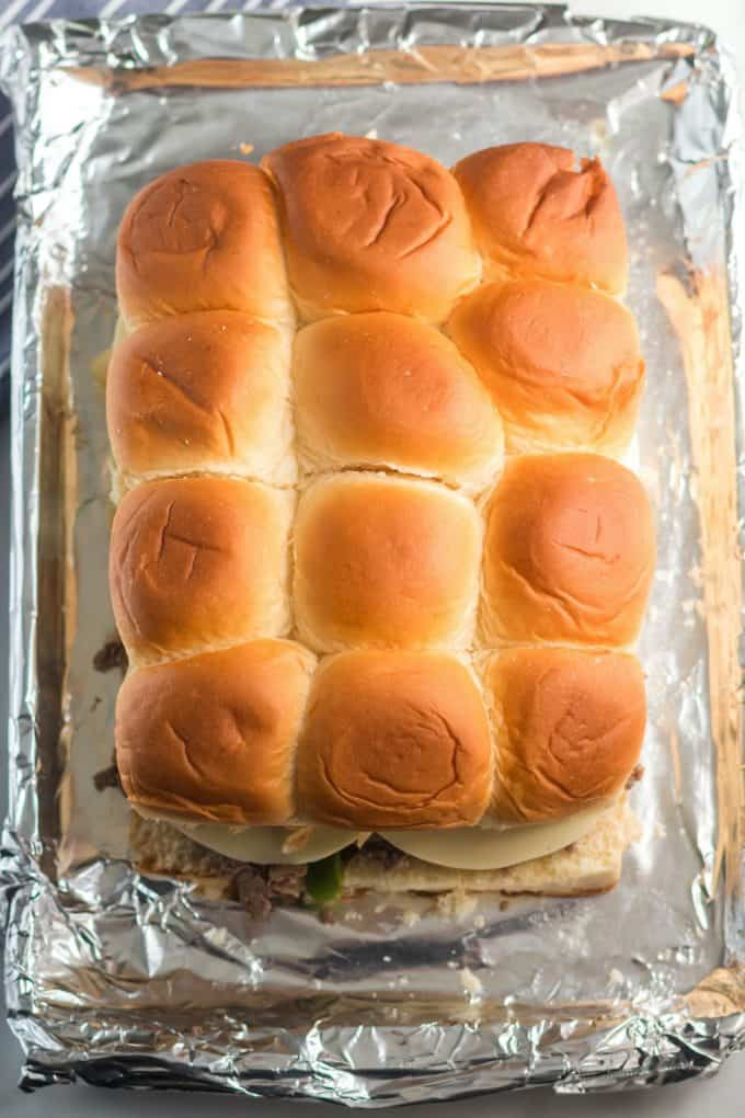 Place the other half of the rolls on top