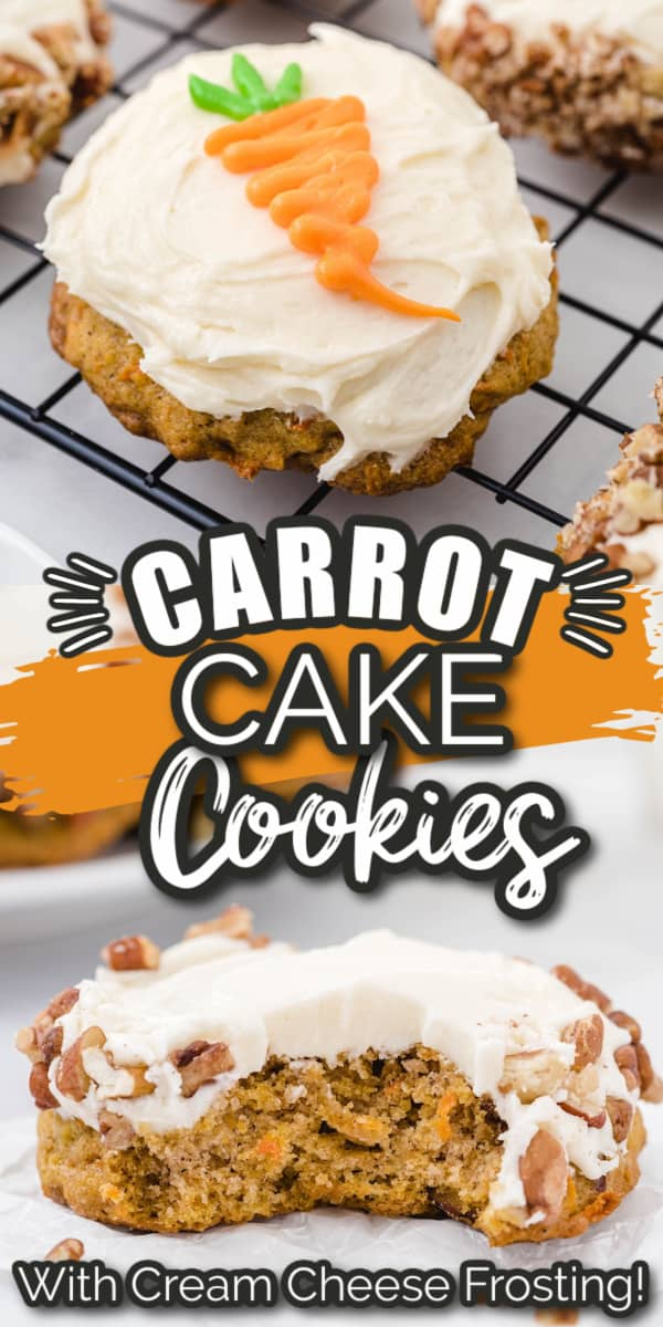Carrot Cake Cookies with Cream Cheese Frosting Pinterest