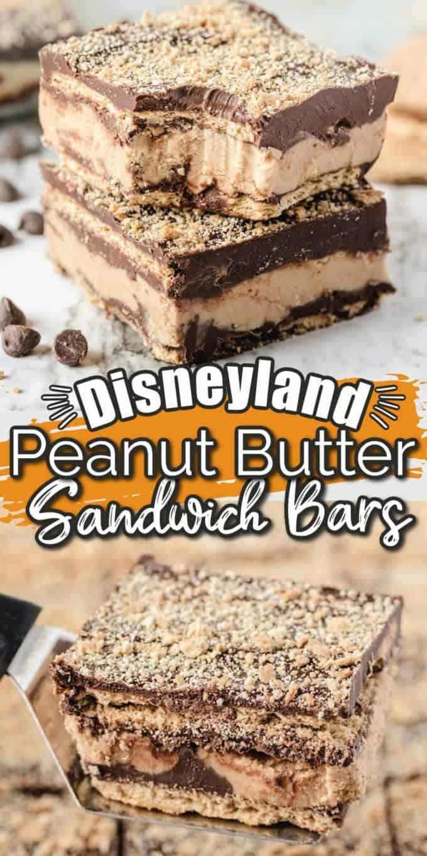 Disneyland's Peanut Butter Sandwich Bars Pinterest image