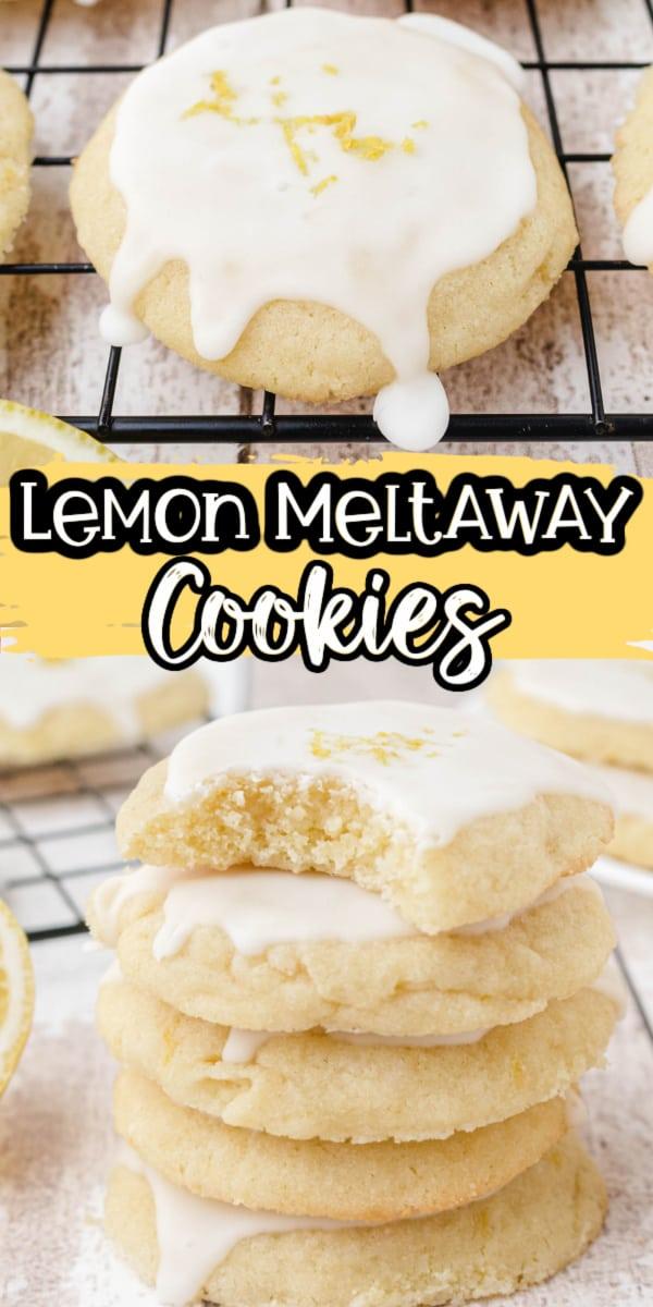 Lemon Meltaway Cookies Pinterest Image