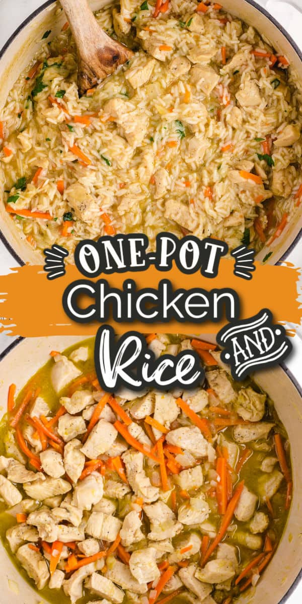 One-Pot chicken and rice Pinterest Image